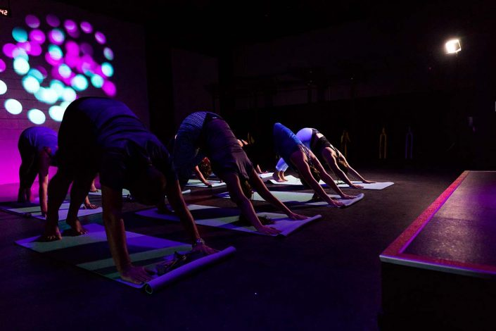 Image of people doing yoga classes at ALLFIT 24/7 Fitness Gym Takapuna