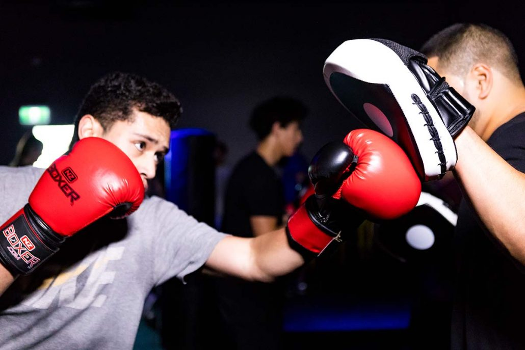 Image of high intensity group boxing classes at ALLFIT 24/7 Fitness Gym Takapuna
