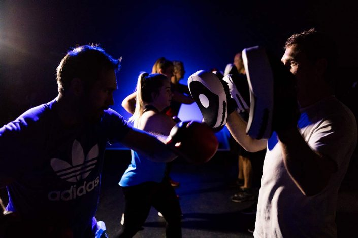 Image of high intensity group boxing classes at ALLFIT 24/7 Fitness Gym Beachlands