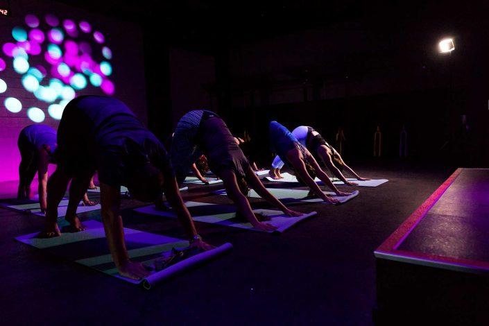 Image of people on yoga mats at the 1U Unwind Yoga Class Beachlands