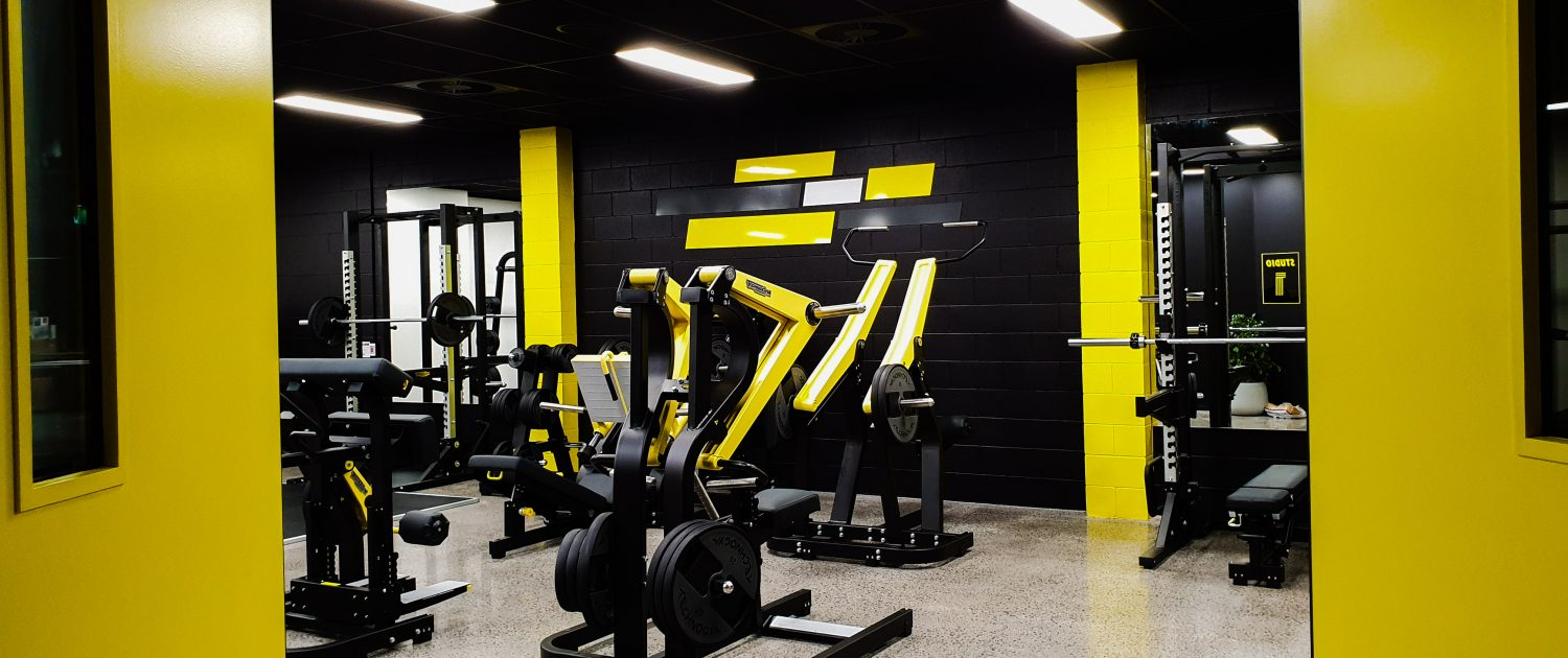 Image of gym weights floor area at ALLFIT 24/7 Fitness Gym Takapuna