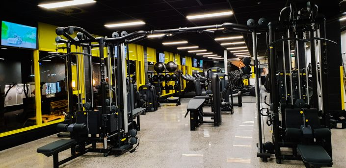 Image of gym floor area at ALLFIT 24/7 Fitness Gym Takapuna