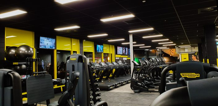 Image of gym cardio floor area at ALLFIT 24/7 Fitness Gym Takapuna